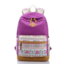 Keness Fashion leisure travel backpack canvas student bag female backpack