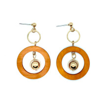 Its Chic Jewelry Anting Ring Kayu