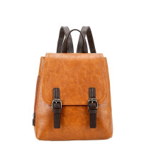 YOOHUI PB12 New England Fashion Backpack Lady Small Solid Color PU Leather Casual Backpack
