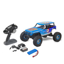 COZIME Wltoys 10428-A 1/10 2.4G 4WD Electric Off-road Rock Climbing Crawler RC Car Blue