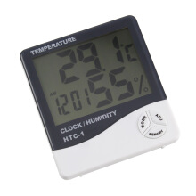 Gainbon Thermometer Hygrometer Temperature Humidity Meter HTC-1 LCD Electronic Digital Indoor Weather Station Alarm Clock