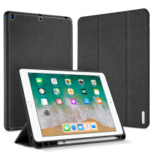 New iPad 9.7 2017 2018 Classic PU Cloth Flip Magnetic Smart Stand Case Cover