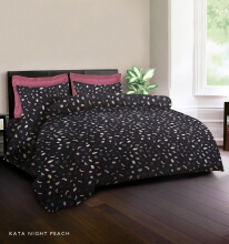 KING RABBIT Bedcover Double Motif Kata Night-Peach/ 230 x 230cm Peach