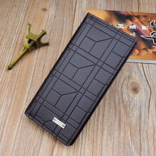 Baellerry S484 men's original imported leather wallet long Korean multi-card ultra-thin wallet men's fashion casual wallet