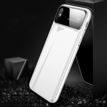 Bakeey Tempered Glass Lens Hard PC Glossy Protective Case for iPhone X white