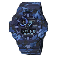 Casio G-Shock GA-700CM-2ADR Blue Woodland Camouflage Shock Resistant Resin Band [GA-700CM-2ADR]
