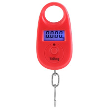 Jantens 25kg /5g Mini Hanging Luggage Scale Precision Pocket Portable LCD Digital Electronic Scale Red 25kg /5g