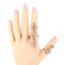 SESIBI Rings Multiple Finger Stack Knuckle Band Crystal Set Womens Can Adjust Fashion Jewelry -