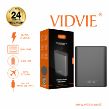 VIDVIE Powerbank PB715 8000 mAh / Battery Charger / Pengisi Daya - Dark Grey