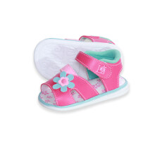 LustyBunny Baby Shoes Big Flower - Fuschia