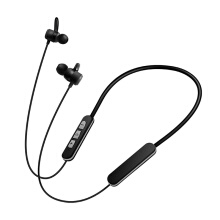 Vinmori Private mode metal magnetic wireless Bluetooth headset Sports waterproof and sweatproof bass hanging neck double ears