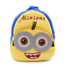 COZIME Kawaii Cartoon Small Yellow Men Plush Kindergarten Toddler Kid School Bag Yellow