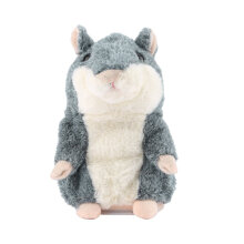 [kingstore] Cute Talking Hamster Plush Toy Sound Record Animal Gray Grey
