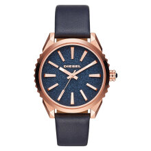 Diesel DZ5532 Men Watch Blue Glitter Dial Blue Leather Strap [DZ5532]