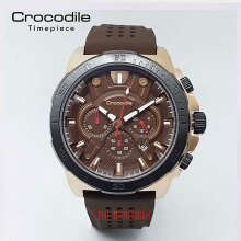 Crocodile CM-010D34F Jam Tangan Pria Tali SILICON Brown