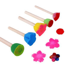 Farfi Wooden Sponge Painting Brushes DIY Graffiti Tools Kids Educational Toys as the pictures