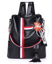 Keness new retro fashion zipper ladies backpack leather high quality school bag shoulder bag