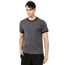 CHAMPION Classic Jersey Ringer Tee - Granite Heather/Black