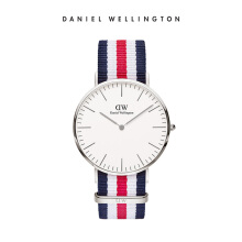 Daniel Wellington Classic Nato Watch Canterbury Eggshell White 40mm