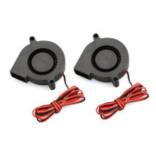 [kingstore]2 PCS Mini Cooling Fan 5015 DC 12V Radial Turbo Blower Fan For 3D Printer Black Black