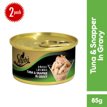 SHEBA Tuna & Snapper in Gravy Makanan Kucing Basah Super Premium [1 Pack]