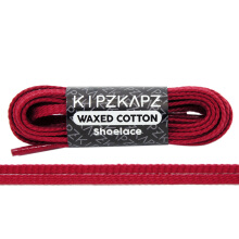 KIPZKAPZ WS53  Waxed Cotton Flat Shoelace - Gym Red [5mm]