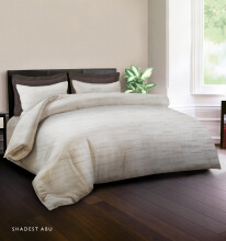 KING RABBIT Bedcover Double Motif Shadest - Abu/ 230 x 230cm Grey