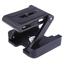 Z-type Foldable Tripod Cradle Head with 1/4 3/8 inch Connector  - Black