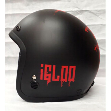 Helm IGLOO The Hardf Way Black Red