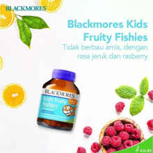 Blackmores Kids Fruity Fishies Bpom Kalbe - 30 Kapsul (Omega 3 Anak)