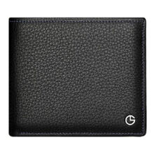 Goldlion A721001-211 new men's wallet leather Cowhide simple men's wallet business cross section wallet-black