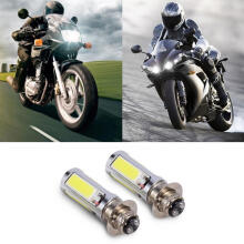 Farfi 2Pcs White LED Motorbike Headlight Fog Light Bulb Lamp 12VDC 25W 6000K White Light