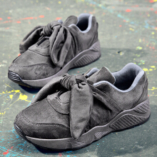 Bowknot Running Sports Shoes Bow Sneakers For Women Grey 36
