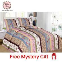 Vintage Story - Shabby Bed Cover Set Korea Size King 220x240 cm - Multicolors