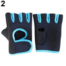 Farfi Unisex Outdoor Cycling Gym Palm Fingerless Tactical Non-Slip Sports Gloves