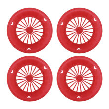 Plastic Paper Plate Holders Reusable Picnic BBQ Camping Parties Red 4 pcs