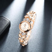SESIBI Crystal Dial Strap Bracelet Luxury Watches Flower Woman Wristwatch - Gold