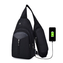 SiYing Business Charging Smart Men's Chest Bag Canvas Crossbody Bag