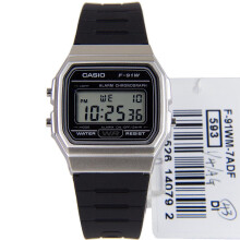 Casio Standard F-91WM-7ADF - Vintage Series - Resin Band Black