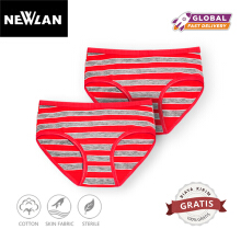 (1 pack isi 1 pcs) Newlan Celana Dalam Mini Wanita NNK02 Red Average Size