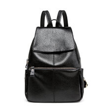 Keness D524 Fashion shoulder bag simple trend wild student school bag leisure travel bag Black