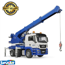 Bruder Toys 3770 - MAN TGS Crane Truck with L&S Module.