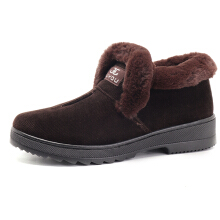 Zanzea 0051Winter Cotton Shoes Keep Warm Faux Fur Lining Snow Boots  Red