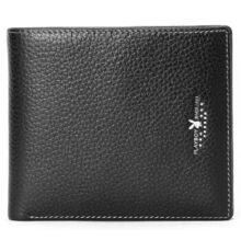 Playboy PAA3003-7B Men's multi-functional wallet Cowhide leather cross section multi-card casual men's wallet-black