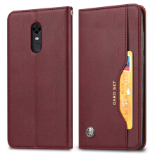 MOONMINI Classic Leather Wallet Phone Case Card Slots Cellphone Holder Shell  Card Slots Cover for Xiaomi Redmi 5 Plus