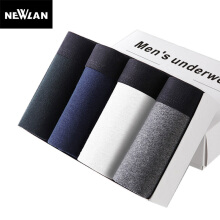 Newlan 4 pieces / piece cotton men underwear boyshort breathable men boxers solid color underwear comfortable brand shorts
