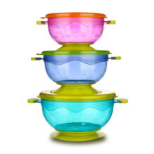 3pc Baby sucker bowl   blue /green/pink