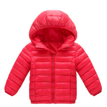 Anamode Kids Winter Duck Down Coat Hooded Parka Girl Boy Outerwear Jacket -Red -