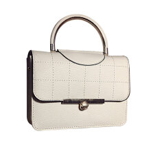 [LESHP]Fashion Female Handbag Shoulder Bag Messenger Lock Small Square White