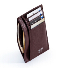Faire Leather Co - Specter CG Card Wallet (Burgundy) | Slim Leather Wallet